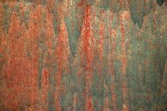 Oude geschilderde textuur van metaalmuur De ruimte van het exemplaar stock foto's
