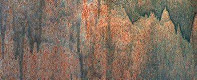 Oude geschilderde textuur van metaalmuur De ruimte van het exemplaar royalty-vrije stock foto's