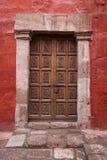Oude gesloten deur Stock Fotografie