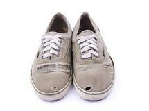 Oude geïsoleerde¯ schoenen Stock Fotografie
