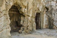 Oude gevangenis van Griekenland stock fotografie