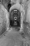 Oude Gevangenis in Zwart-wit Stock Foto's