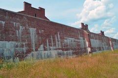 Oude Gevangenismuur Stock Afbeeldingen
