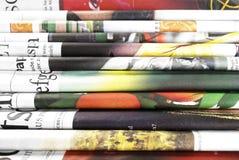 Oude gevouwen kranten als achtergrond Royalty-vrije Stock Fotografie