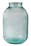 Oude glas transparante bank royalty-vrije stock foto