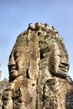 Oude glimlach in Ankor Wat Royalty-vrije Stock Foto