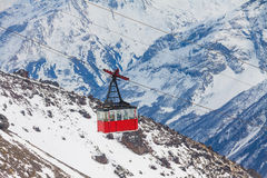 Oude gondellift bij Elbrus-berg Royalty-vrije Stock Afbeelding