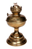 Oude gouden benzinelamp Royalty-vrije Stock Foto's