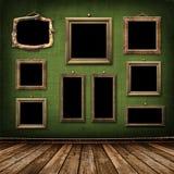 Oude gouden frames Victoriaanse stijl Stock Afbeeldingen