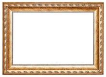 Oude gouden klassieke brede houten omlijsting Royalty-vrije Stock Afbeeldingen