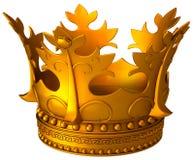 Oude gouden kroon stock illustratie