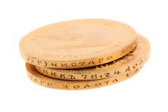 Oude gouden muntstukken van Rusland Royalty-vrije Stock Afbeeldingen