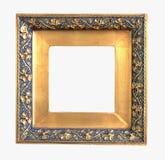 Oude gouden omlijsting stock afbeelding