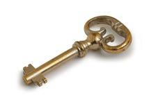 Oude Gouden Sleutel stock foto
