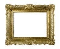 Oude gouden uitstekende omlijsting Royalty-vrije Stock Afbeeldingen