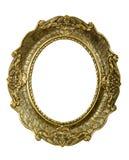 Oude gouden uitstekende omlijsting op wit Royalty-vrije Stock Afbeeldingen
