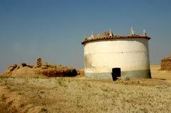 Oude graanschuur Stock Foto's