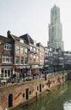 The Oude Gracht in the historic center of the city of Utrecht Royalty Free Stock Photos