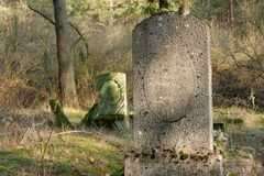 Oude grafsteen Stock Foto's