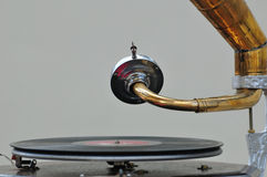 Oude grammofoon Stock Foto's