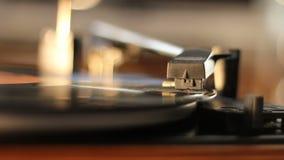 Oude grammofoon stock footage