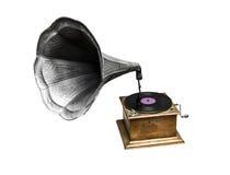 Oude grammofoon Stock Afbeelding