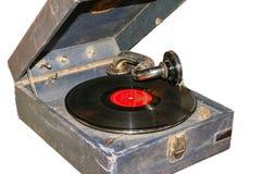 Oude grammofoon Stock Afbeeldingen