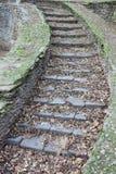 Oude graniettrap Stock Afbeeldingen