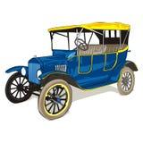 Oude grappige gekleurde auto Stock Foto