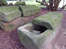 Oude graven stock afbeelding