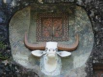 Oude graven in rots, Tana Toraja stock foto's