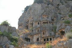 oude graven in Turkije royalty-vrije stock fotografie