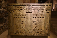 Oude Gravure in Museum van Anatolische Beschavingen, Ankara Stock Fotografie