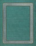 Oude Grens met de Groene Achtergrond van het Linnen royalty-vrije stock foto
