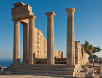 Oude Griekse akropolis Royalty-vrije Stock Afbeeldingen