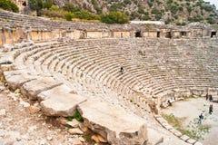 Oude Griekse amphitheatre Stock Fotografie