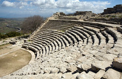 Oude Griekse amphitheatre Royalty-vrije Stock Foto's