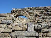 Oude Griekse Boog op Delos Stock Foto's