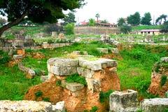 Oude Griekse corinth royalty-vrije stock foto's