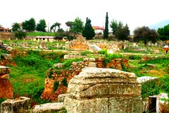 Oude Griekse corinth royalty-vrije stock foto