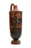 Oude Griekse geïsoleerdet vaas royalty-vrije stock afbeeldingen