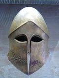 Oude Griekse helm Stock Foto's