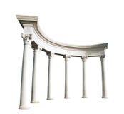 Oude Griekse kolommen Royalty-vrije Stock Foto
