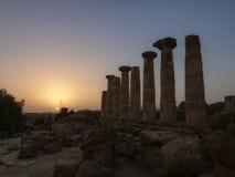 Oude Griekse kolommen Royalty-vrije Stock Foto's