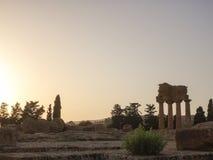 Oude Griekse kolommen Stock Fotografie