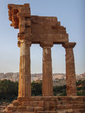 Oude Griekse kolommen Stock Foto's