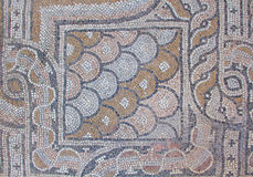 Oude Griekse mozaïekvloer 2 stock foto's
