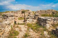 Oude Griekse nederzetting Belyaus uitgravingen crimea Royalty-vrije Stock Afbeeldingen