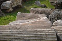 Oude Griekse pijlers Stock Foto