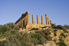 Oude Griekse ruïnes Stock Afbeelding